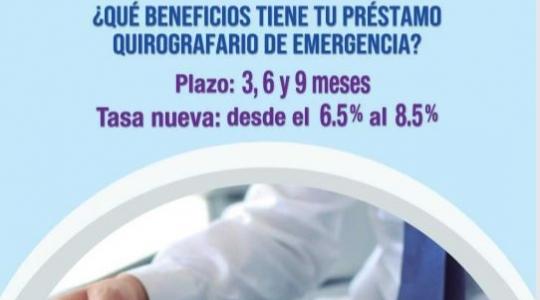 Préstamos quirografarios de emergencia BIESS