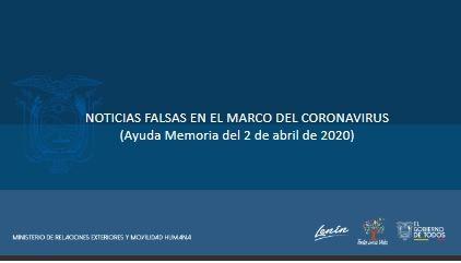 IMPORTANTE EVITAR NOTICIAS FALSAS