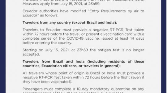 Resoluciones COE Nacional 09 de julio 2021