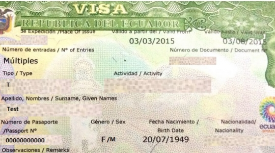 Países que requieren de visado para viajar a Ecuador